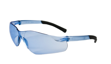 Bouton Zenon Z13 Safety Glasses w/Light Blue Lens & Light Blue Frame