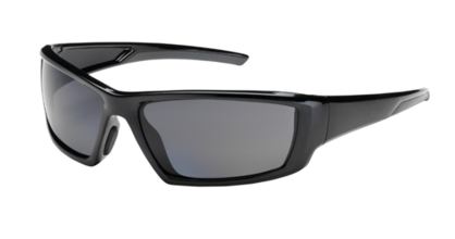 Full Frame Safety Glasses with Black Frame, Gray Lens and Anti-Scratch / An