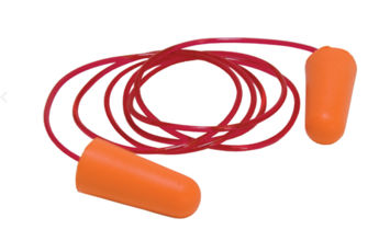 265-100C Disposable Moldable Foam Ear Plugs with PE Safety Cord 100/per ctn