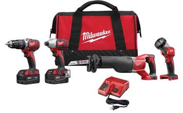 Milwaukee 18-Volt Lithium-Ion Cordless Combo Tool Kit