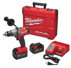 Milwaukee 18-Volt Brushless Cordless 1/2 in. Hammer Drill Kit at Carter-Wat