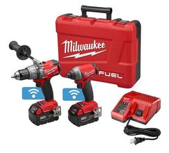 Milwaukee 18-Volt Lithium-Ion Cordless Hammer Drill/Impact Driver Combo Kit