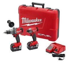 Milwaukee 18-Volt Cordless Hammer Drill/Impact Driver Combo Kit at Carter-W