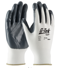Seamless Knit Nylon Glove with Nitrile Coated Smooth Grip on Palm & Fingers