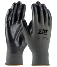 Seamless Knit Nylon Glove with Nitrile Coated Foam Grip on Palm & Fingers -