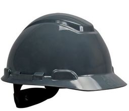 3M Gray Hard Hat w/ 4-Point Ratchet Suspension from Carter-Waters