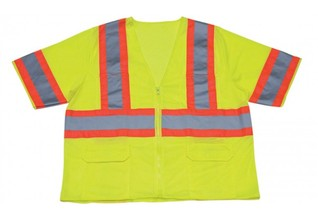 ABE 1293-LZ 4XL CLASS 3 LIME MESH SAFETY VEST ZIPPER FINISH ANSI/ISEA 107 f