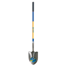 AME 1558300 J-250 Kodiak Round Point Shovel, Serrated Blade & Fiberglass Ha