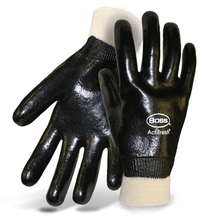 Boss Interlock Lined Smooth Grip Dipped PVC w/Actifresh Gloves