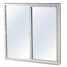 "BOW ISW4036 4' x 3'6"" White Vinyl Slider Insulated Glass w/Snap Lock & Trim"