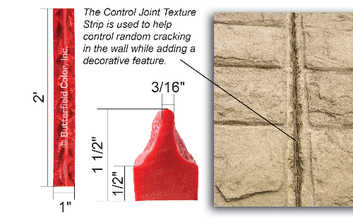 Butterfield Color's Control Control Joint Texture Strip from Carter-Waters