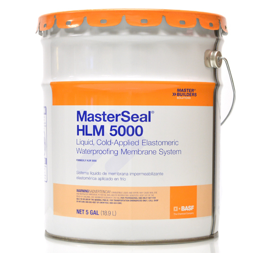 MasterSeal HLM 5000 SLV Liquid, Cold-Applied Elastomeric Waterproofing  Membrane System Pail 5 Gallon