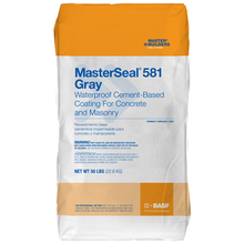 CHE 56410909 MasterSeal 581 Gray Waterproofing for Concrete & Masonry 50lb