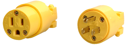 COL 059910000 Yellow Rubber Plug Female 15a/125v Industrial-gr from Carter-