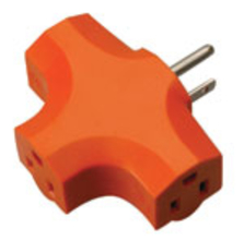 COL 09906 3-Outlet Adapter Orange/Bulk from Carter-Waters