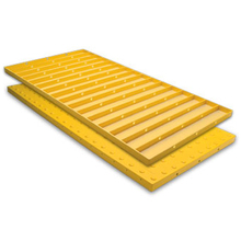 ADA 2448IDRET2Y 2 x 4 Yellow Retrofit ADA Paver w/Adhesive & Anchors  from
