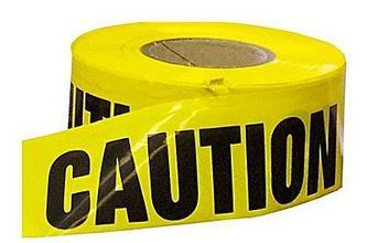 MUT 1776-41-3000 3' x 500' Reinforced Caution Tape from Carter-Waters