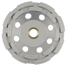 "DIA 04HDDDX2 Diamond Vantage 4"" 5/8-11 Double Row Cup Wheel from Carter-Wat"