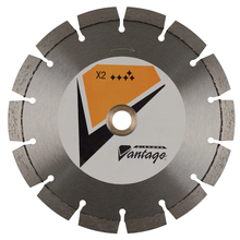 "DIA 0725CDPX2-1 Diamond Vantage 7"" x 250 x 1"" Point Blade from Carter-Water"