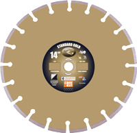 "DPR 57720 Diamond Products 14""x .125  H8S Standard Gold Blade Diamond  from"