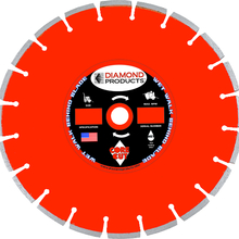 "DPR 7673 Diamond Products 18"" x .125"" Heavy Duty Wet Cured Concrete Blade f"
