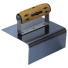 "Kraft 6"" x 6"" 3-1/2"" 1/2""R Elite Blue Steel Outside Step Tool w/Cork Handle"