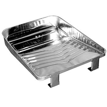 "Magnolia 9"" Bright Metal Paint Tray from Carter-Waters"