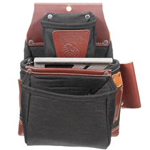 OCC B8060 Occidental Leather Black OxyLight 3 Pouch Fastener Bag from Carte