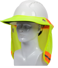 HI-VIS YELLOW EZ-COOL HARD HAT NECK SHADE, FR TREATED