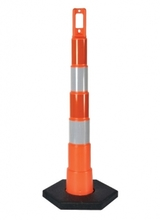 PLA 650R1-O-4-6-W-EG Traffic Navicade Channelizing Parking Cones w/Reflecti