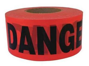 "KES BT1214 Keson Red Danger Tape 3""x 1000'  from Carter-Waters"