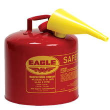 EAG UI20FS 2 Gallon Red Type I Metal Safety Can w/Funnel from Carter-Waters