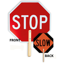"18"" Handheld Stop/Slow Sign from Carter-Waters"