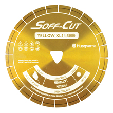 "SOF 542756104 Husqvarna Soff-Cut Excel 5000 10"" Yellow Diamond Blade from C"