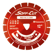 "SOF 542756132 Husqvarna Soff-Cut Excel 3000 8"" Red Diamond Blade from Carte"