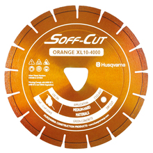 "SOF 542756133 Husqvarna Soff-Cut Excel 4000 8"" Orange Diamond Blade from Ca"