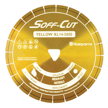 "SOF 542756134 Husqvarna Soff-Cut Excel 5000 8"" Yellow Diamond Blade from Ca"
