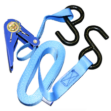 "SPA 30R15S 1"" x 15' Spanset Ratchet Strap w/ S-Hooks from Carter-Waters"