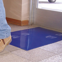 "SUR CM2436B4 24"" x 36"" Clean Mat High Tack Blue Floor Protection 4/pk from"