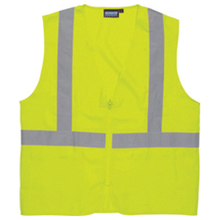 Poly-Mesh Safety Vest High-Vis Green One Size Fits Most from Ca