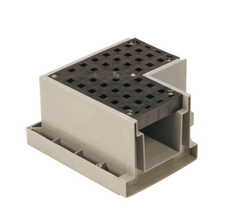 TUF TR1-90 GRAY Channel Drain 90 Deg Corner Section Gray from Carter-Waters