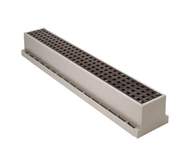 TUF TRIGRAY HDPE TUF-TITE Trench Drain Complete with 3' ADA Grate from Cart