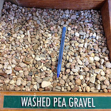 "PEA GRAVEL 1/4X3/8 50# 1/4"" x 3/8"" Washed Pea Gravel 50lb Bag from Carter-W"